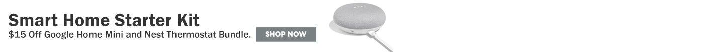 $15 off google home mini & nest thermostat