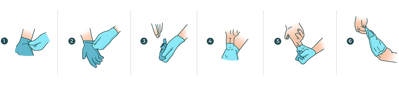 How to properly remove disposable gloves